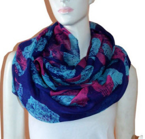 Floral Light Weight X-large Infinity Scarf