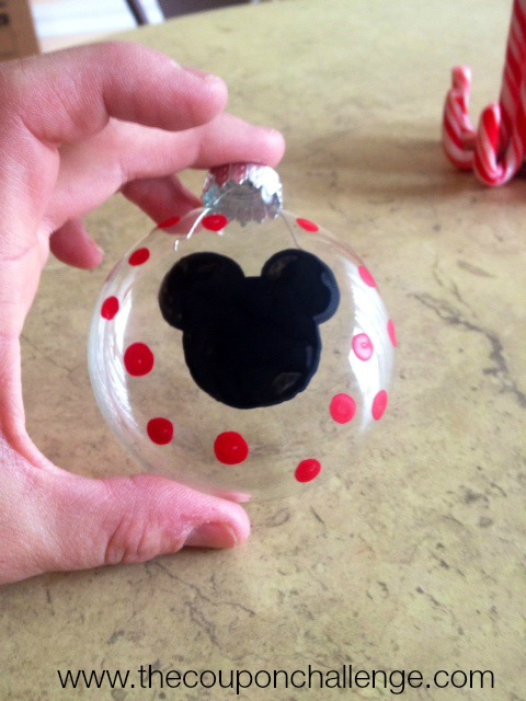 Homemade Minnie Mouse Ornament