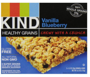 KIND Healthy Grains Granola Bars, Vanilla Blueberry
