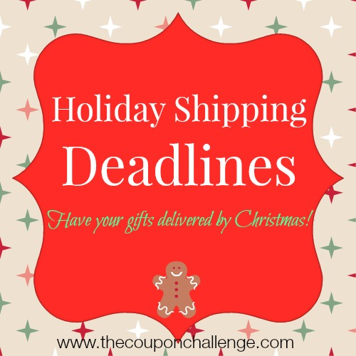 Last Day for Christmas Shipping
