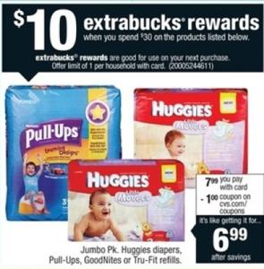 Huggies Diaper CVS sale