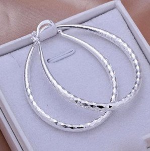 Silver Plated Earrings U Hoop