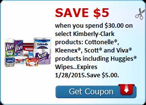 Kimberly-Clark coupon