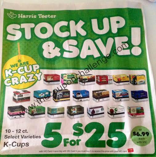 k-cup Harris Teeter Deal