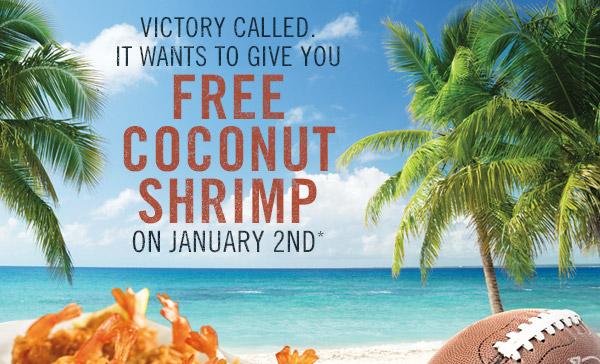 free coconut shrimp