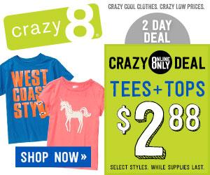 crazy 8 tshirt sale
