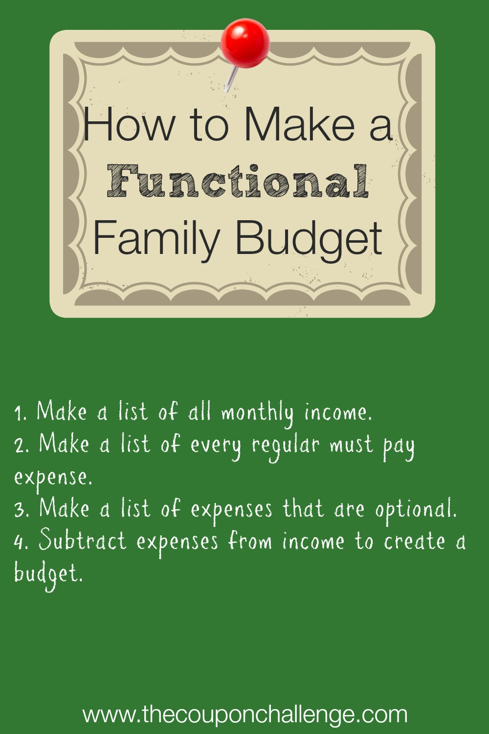How to Make a Functional Family Budget