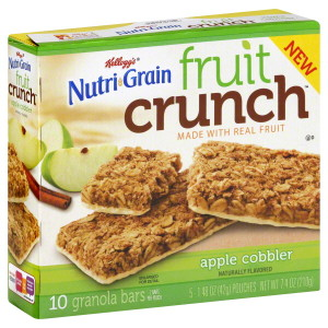 Kellogg's Nutri-Grain Fruit Crunch Bars