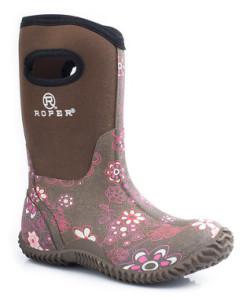 Roper Purple Floral Barnyard Boot