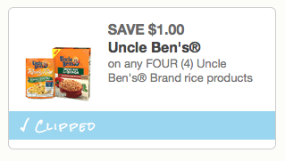 Uncle Bens Rice coupon