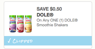 Dole Fruit Smoothie coupon