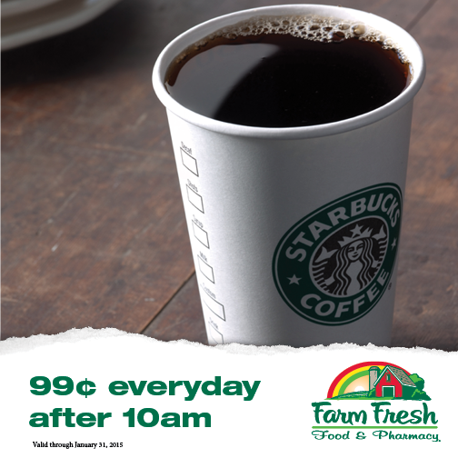 farm Fresh starbucks coffee sale