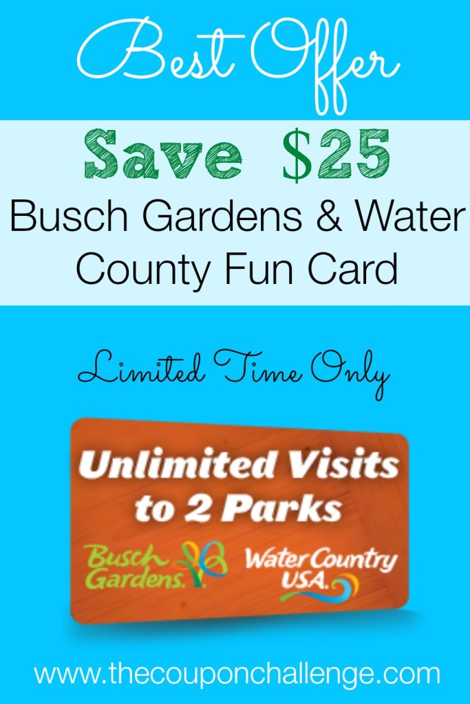 Busch Gardens Williamsburg Fun Card Discount I Busch Gardens Busch Gardens Tampa And Seaworld