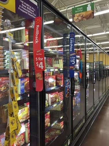 Banquet sale at Walmart