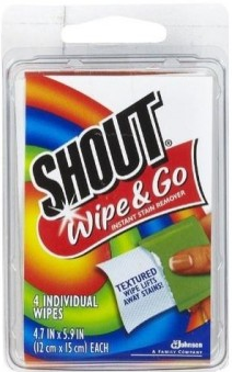 Shout wipe and go