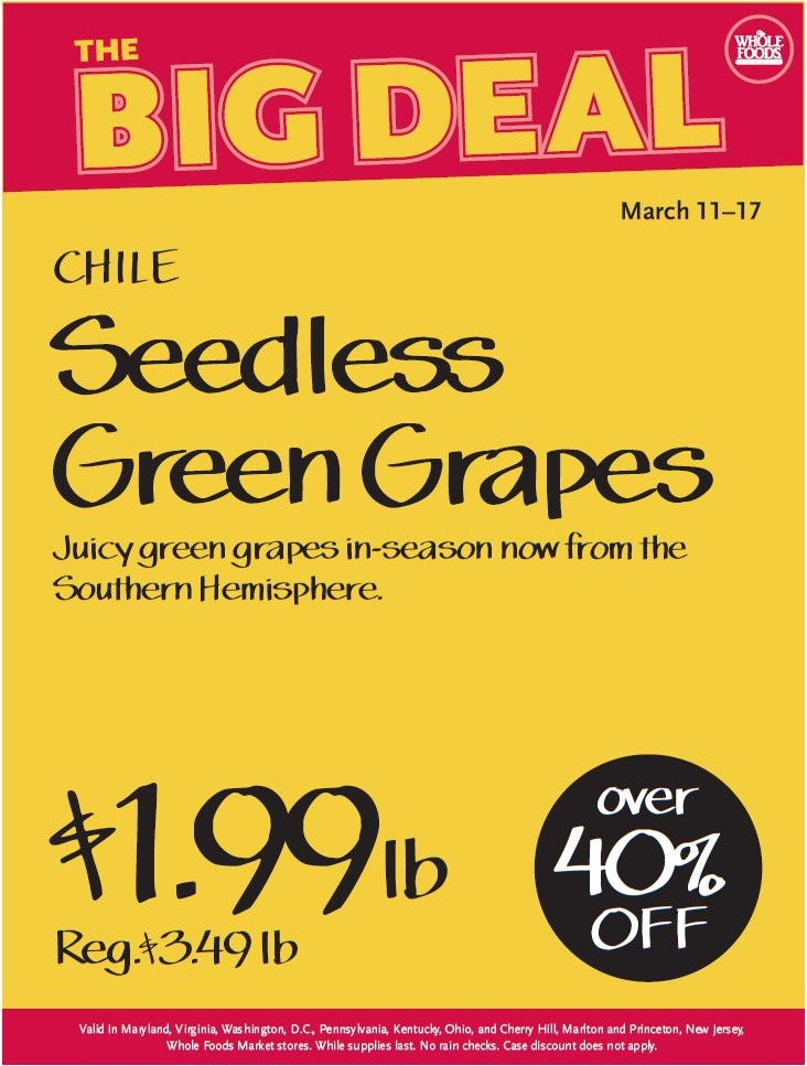 whole foods grape sale
