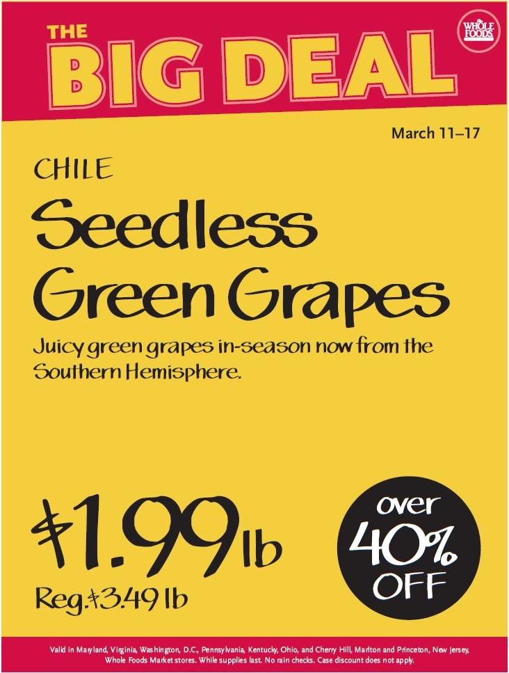 whole foods grape sale