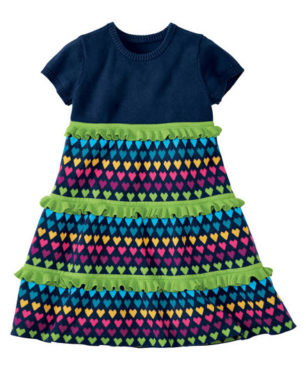 Navy Twirls Love Sweaters Dress