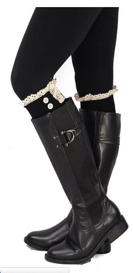 Cotton Lace Boot Cuff sale