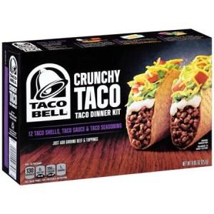 Taco Bell Crunchy Tacos Dinner Kit