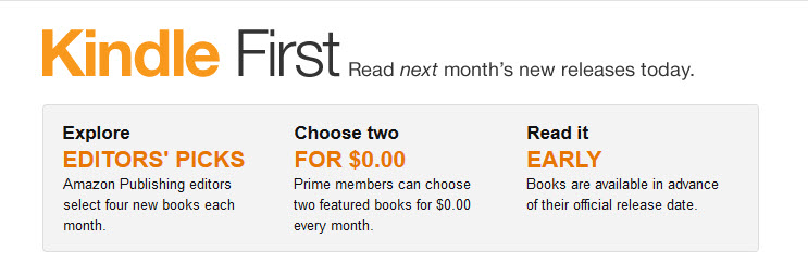 kindle first two books