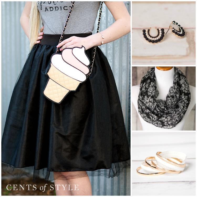Fashion Friday- 4/17/15- Black & White Graphic Accessories- 50% off