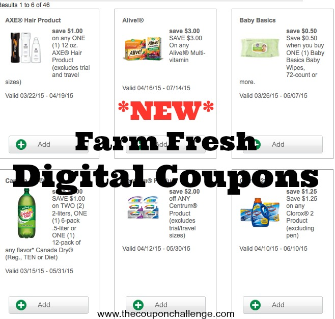Farm Fresh Digital Coupon Policy 1