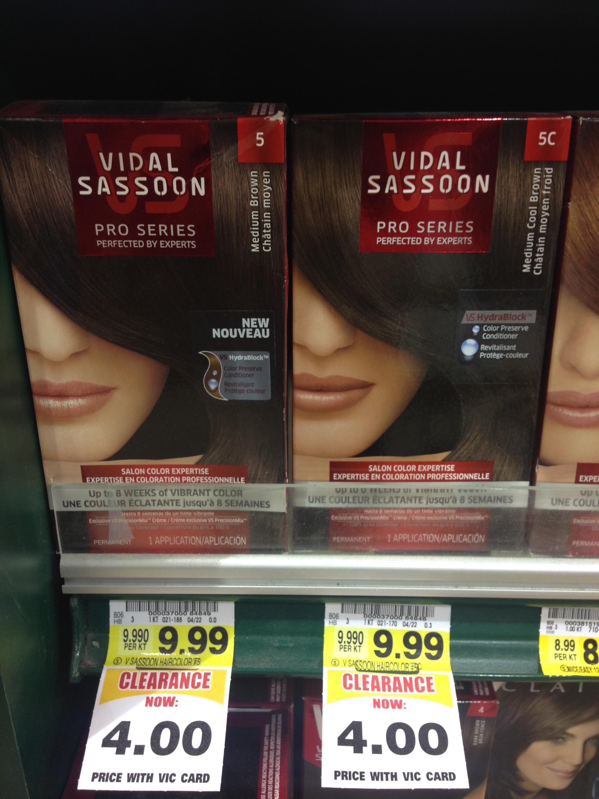 Free Vidal Sassoon Hair Color At Harris Teeter The Coupon Challenge
