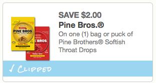 Pine Bros. Throat Drops coupon