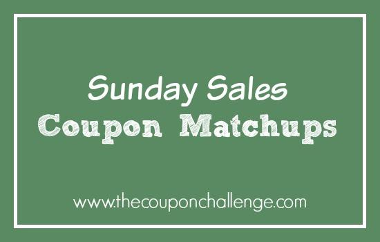 Sunday Sales Coupon Matchups