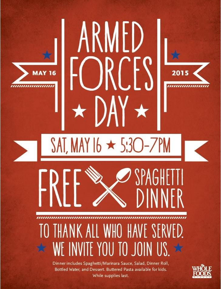 free family-style spaghetti dinner