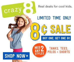Crazy 8 8 cent sale