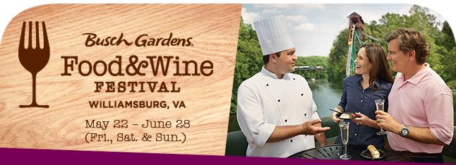 Busch Gardens Williamsburg Food & Wine Festival Discount