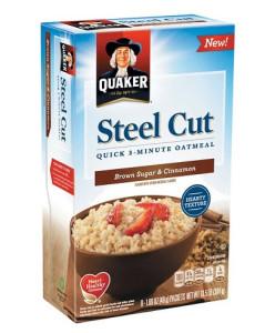 Quaker Steel Cut Quick Oatmeal Brown Sugar and Cinnamon 8 ct