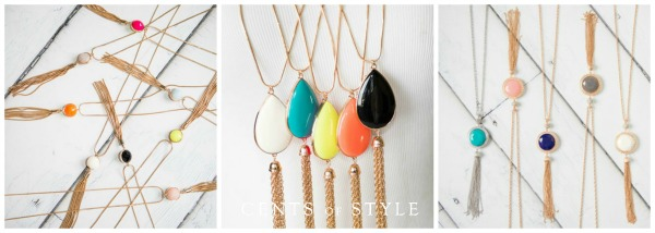 Reversible Fringe Necklaces