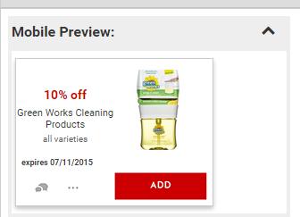 Green Works Cartwheel coupon at Target