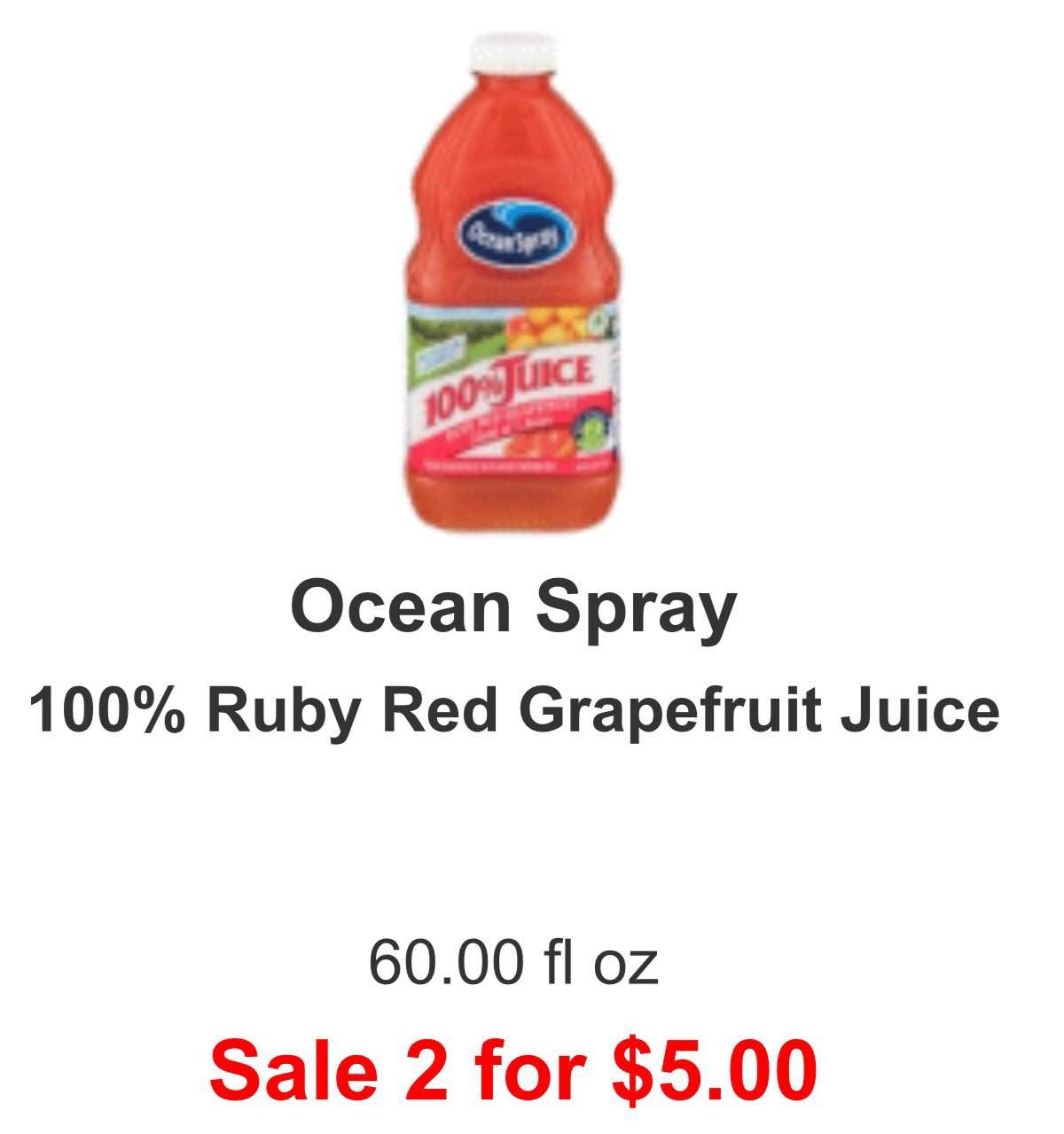 Ocean spray coupon canada