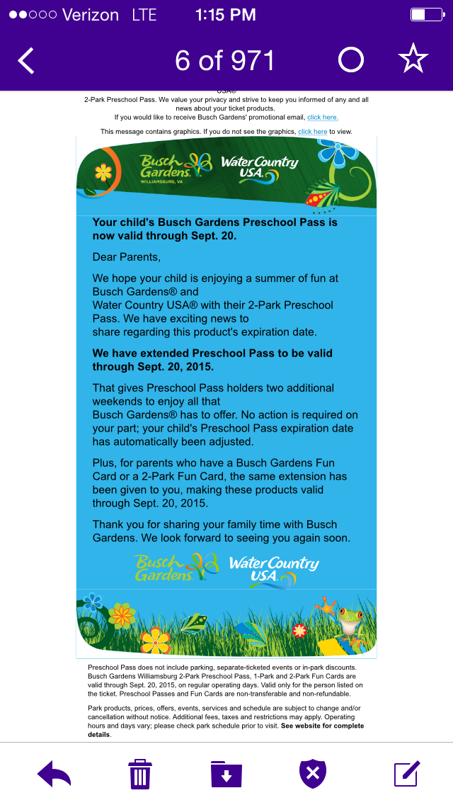 For Parents Who Have A Busch Gardens Fun Card Or 2 Park Fun Card, The Same  Extension Is Given To You As Well!