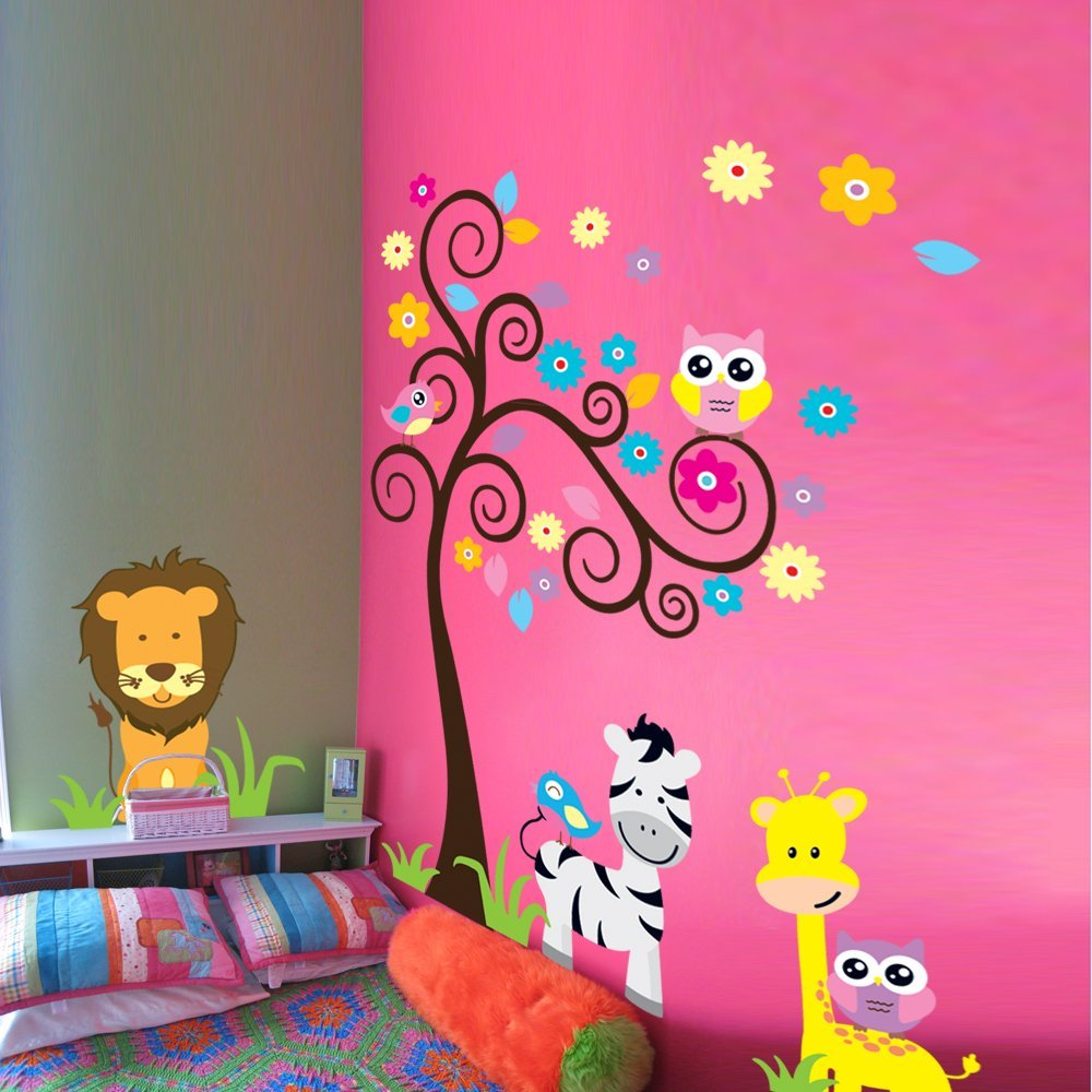 girls room owl stickers