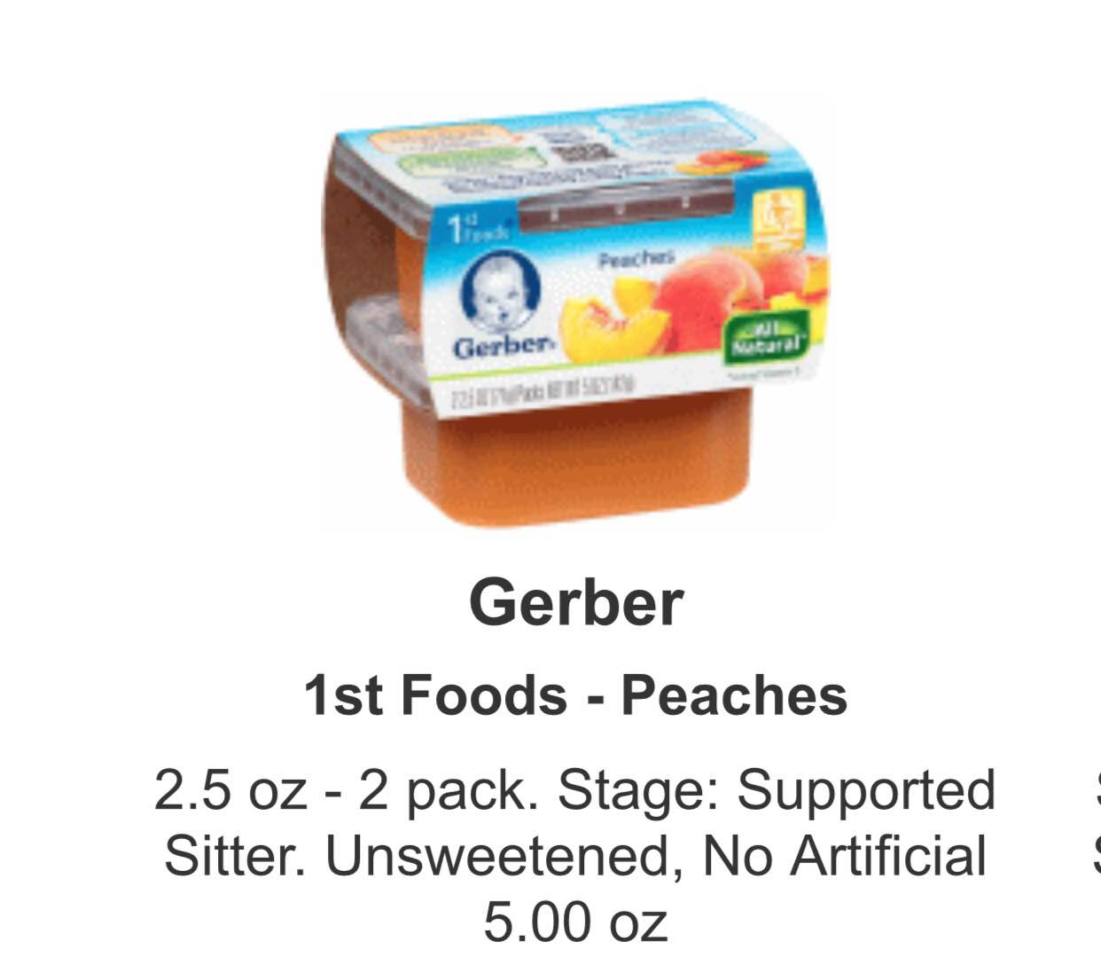 Coupons for gerber 2nd foods
