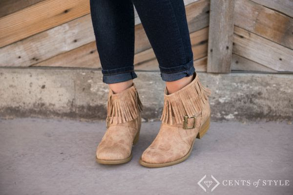 ankle boot with fringe sale