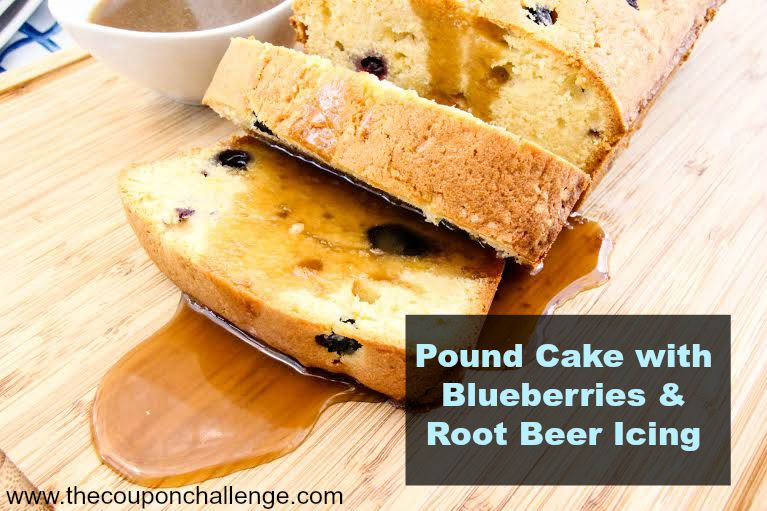 Blueberry Pound Cake & Root Beer Icing