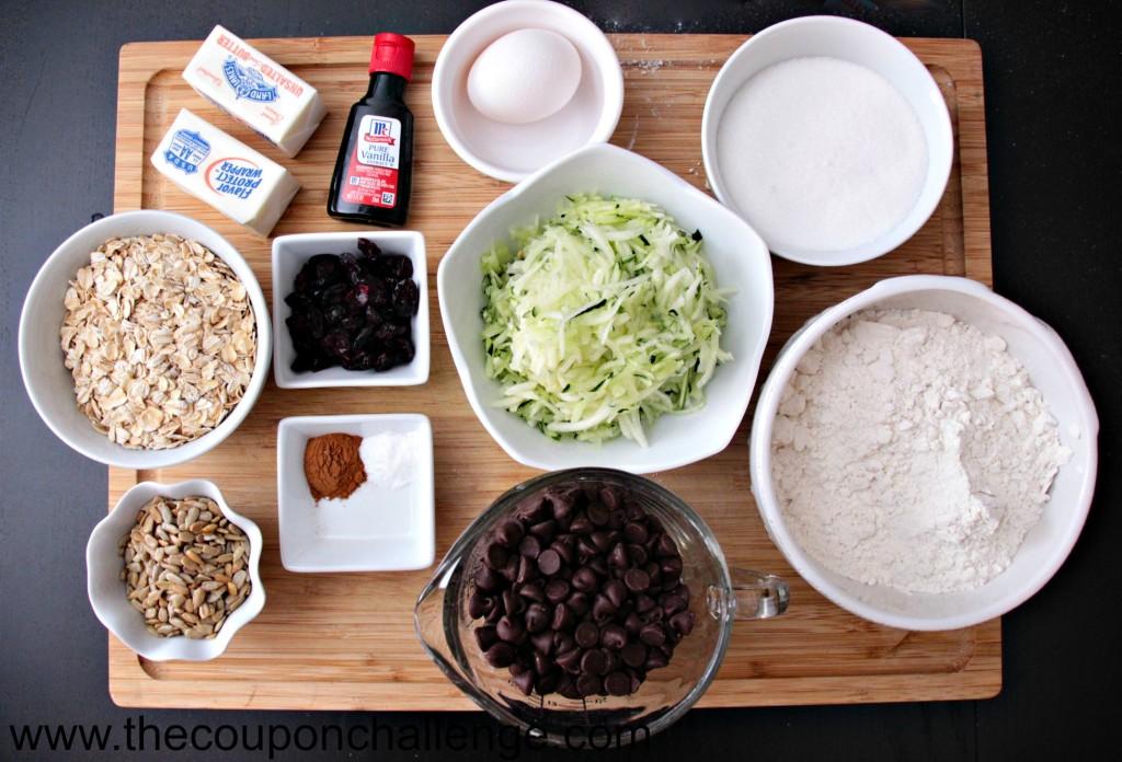 Zucchini Cookies Recipe - Ingredients