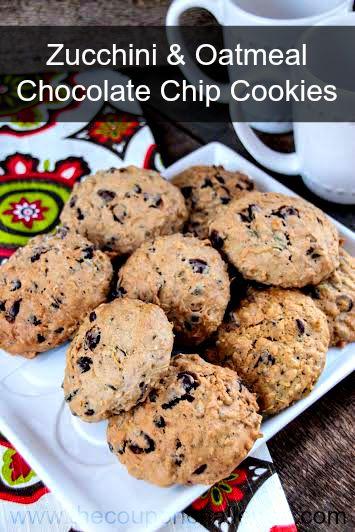 Zucchini & Oatmeal Dark Chocolate Chip Cookies Recipe