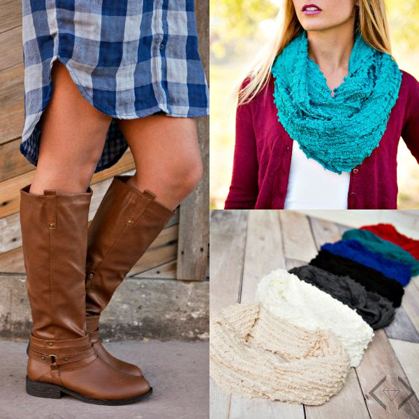 Cents of Style Boot and Scarf sale