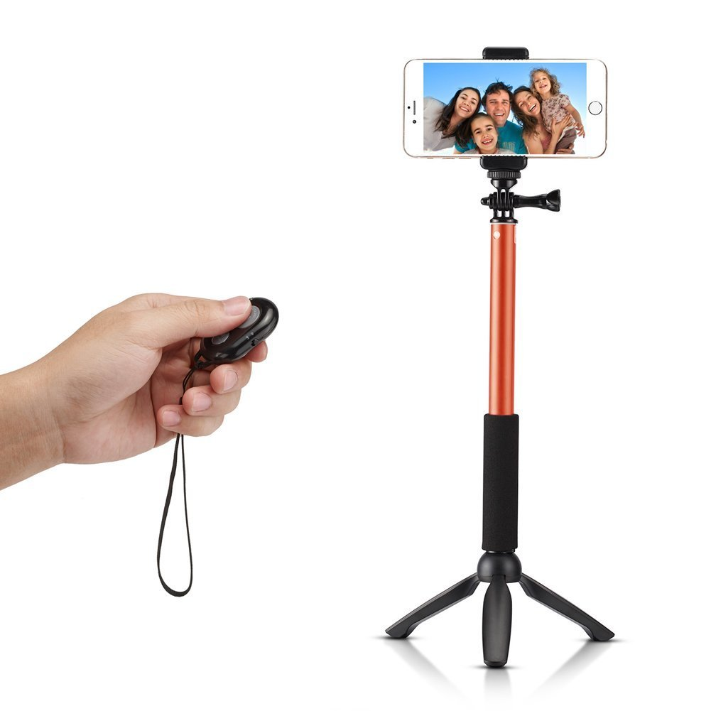 amazon pro selfie stick monopod w mini tripod stand bluetooth remote shut. Black Bedroom Furniture Sets. Home Design Ideas
