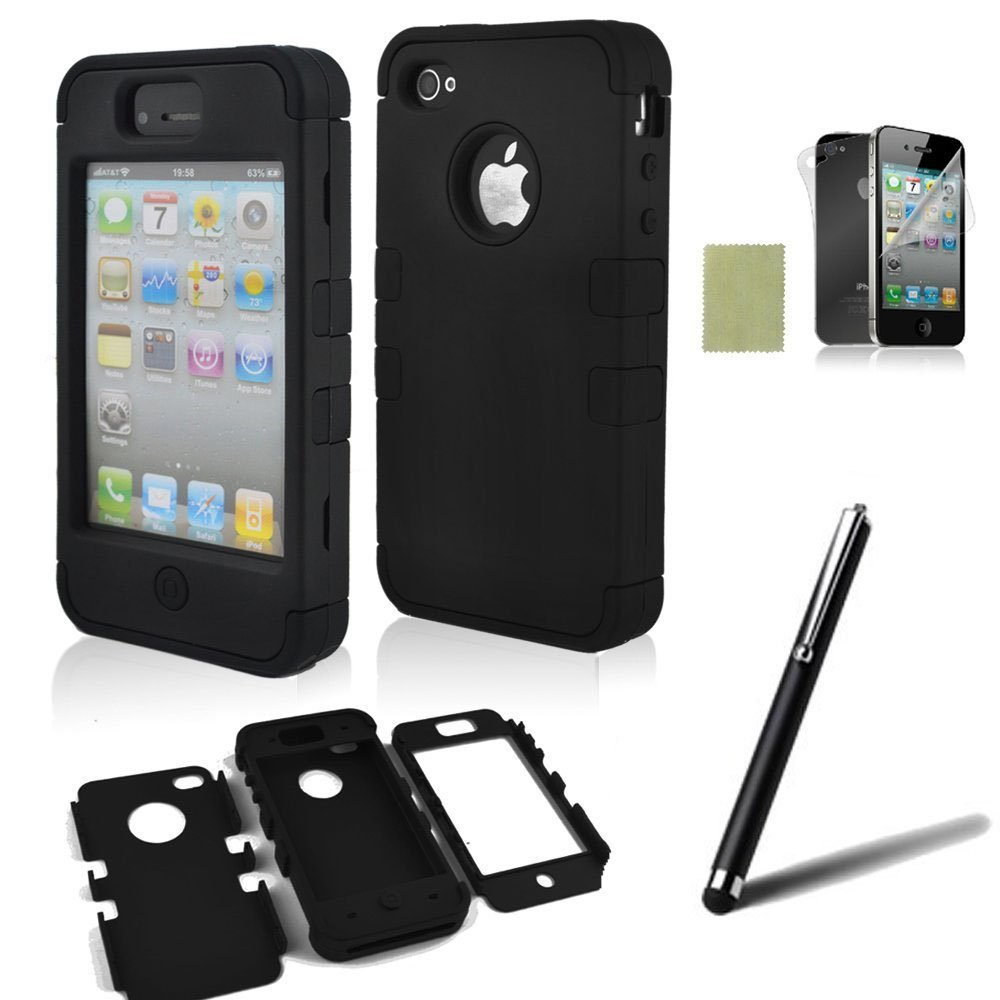 amazon iphone 4s cases iphone 4 amp 4s protective cover with accessories 5 13380