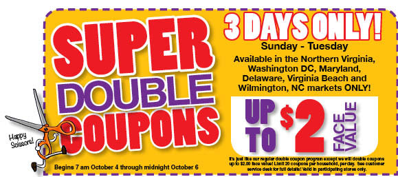 Harris Teeter Super Doubles Weekend