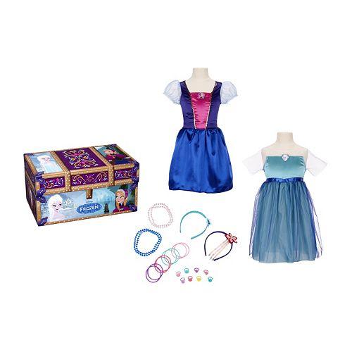 Disney Frozen Elsa & Anna Travel Trunk Dress-Up Set