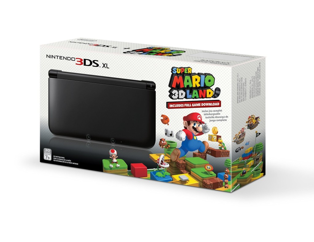 amazon black nintendo 3ds xl with pre installed super. Black Bedroom Furniture Sets. Home Design Ideas